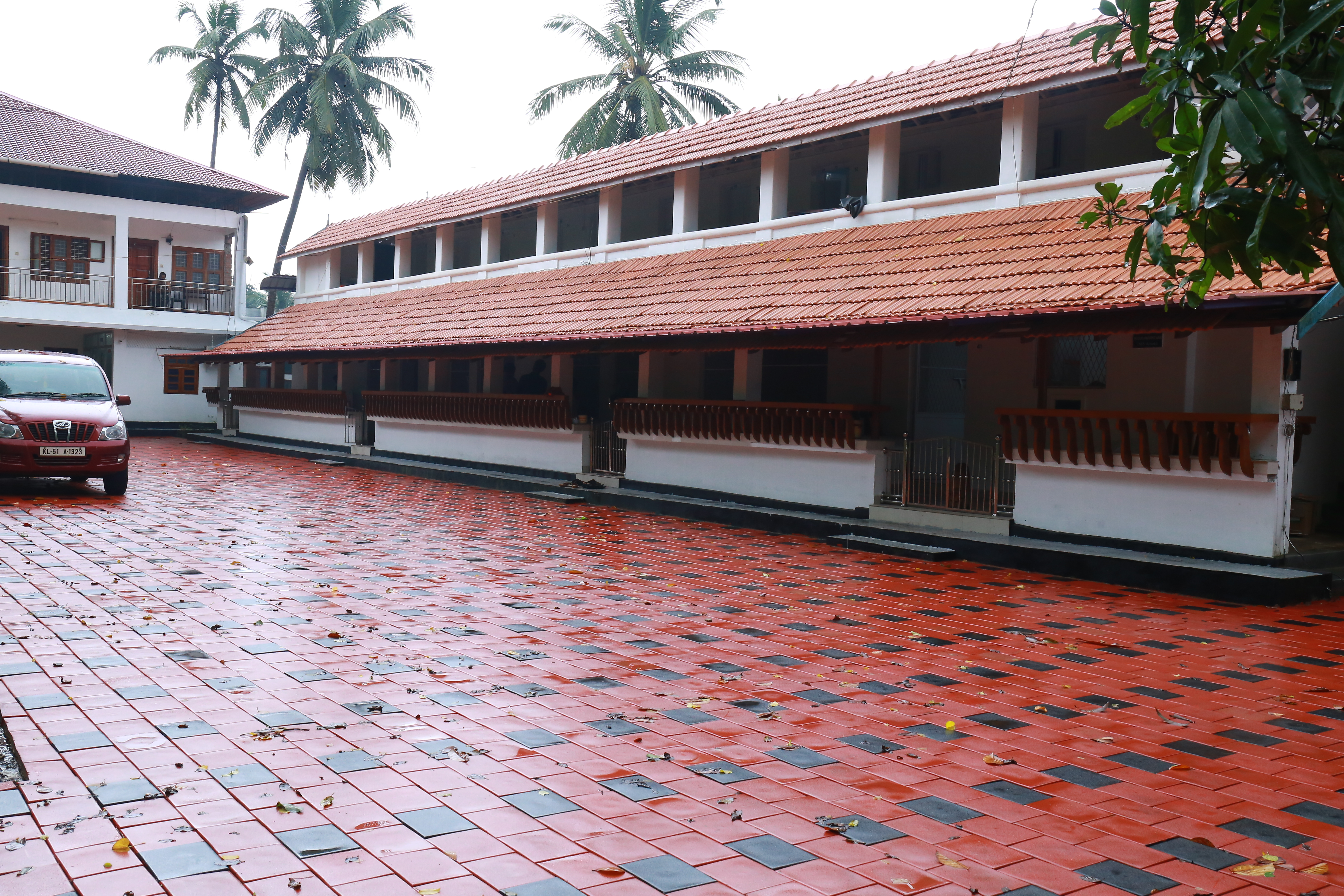 A/C Pay-wards No. 42 to 46 -  Keralavarma Block - With Sit_out, Living, Pantry, Dining & Bed Room  w